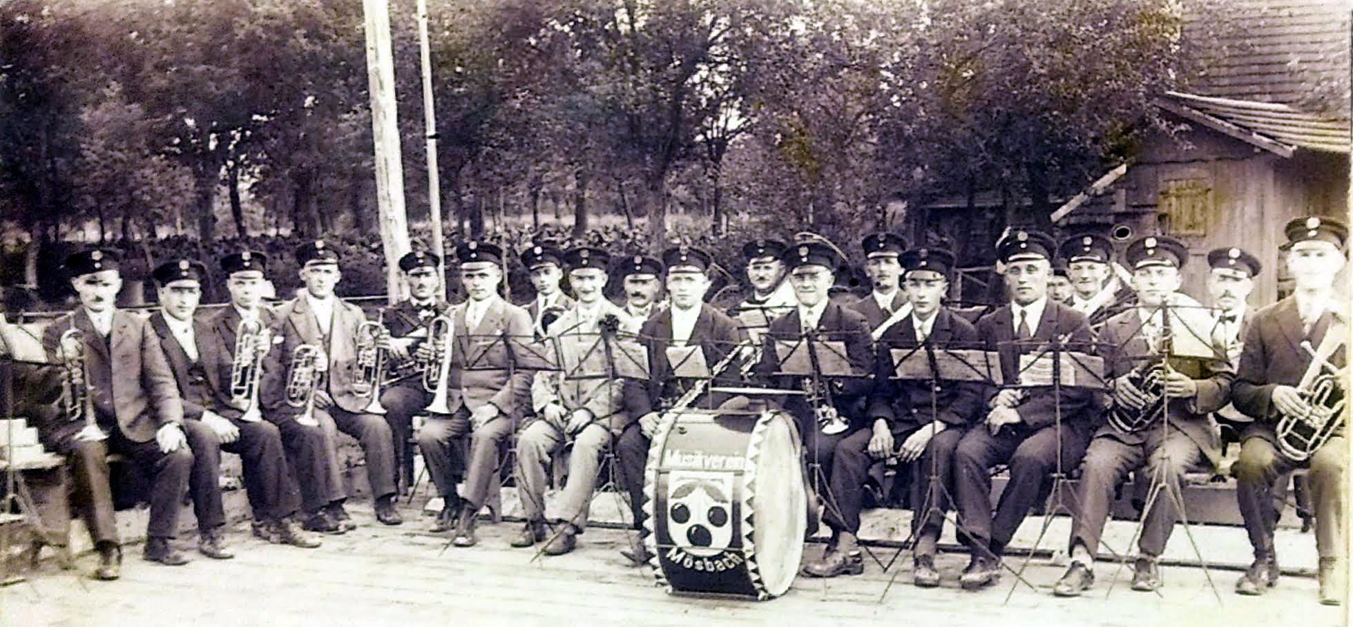 Musikverein Mösbach 1930